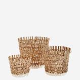 Korb Seegras/Papier Weiß-Natur Gr.3.  21x23 Madam Stoltz