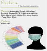 Mascherine con elastici -   NON DISPONIBILE