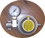Gas Sicherheits Regler 1,2kgh mit Manometer EN 71 Wohnmobil 30mbar