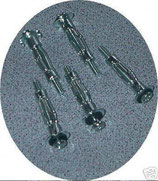 Hohlraumdübel 5 Stück ≙1,05€/Stk. aus Metall M5 x 50 Dübel mit Schrauben