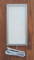 Leuchte 10x20 cm Rahmen silber 54 SMD LED Panel 12V 6W 330L Aufbau