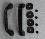 Griff 2x ≙4,60€/St. Rangiergriff schwarz Haltegriff+Unterlage Wohnwagen