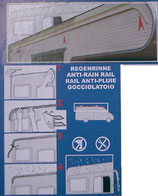 Regenrinne 300 cm ≙11,64€/M. Fiamma Drip Stop selbstklebend für Wand
