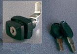 Klappenschloss schwarz Schloss + 2 Schlüssel Knebel Türschloss