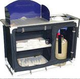 Küchenschrank blau Spüle für Mechanik Eimer Kocher Schrank