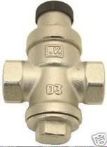 Wasserregler Regler 1-4 bar Druckminderer Messing, Nickel 1/2 Zoll
