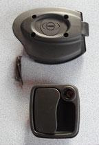 Türschloss schwarz ZADI 34-42mm für Wohnmobil Wohnwagen Klappen Türen