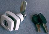 Klappenschloss weiß Türschloss Knebel Schloss HSC + 2 Schlüssel