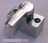 Türvorreiber 11mm hoch verchromt Metall Halter Riegel Tür Schloss