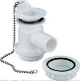 Ablaufgarnitur Auslaufstutzen Siphon Geruchsverschluss Stöpsel 25mm 90° Winkel