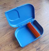 Vesper Brotbox aus 100% Zuckerrohr und Mineralien, plastikfrei, blau