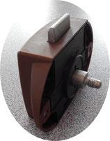 Push Lock f. Stangen Ersatz Schloss einseitig braun Schlösser ohne Knopf