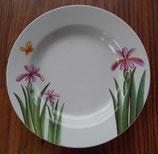 Melamin Teller rund 4 Stk. ≙ 2,-€/Stk. Summer Blume Schmetterling weiß