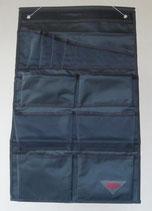 Toilettentasche Utensilien Tasche 12 Fächer grau Hängetasche Organizer
