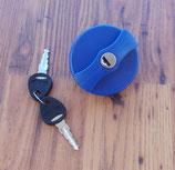 Ersatz Wasserdeckel BLAU Schloß +2 STS Schlüssel f. Einfüllstutzen