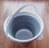 Eimer Silikon faltbar grau weiß Putzeimer Mülleimer 5 oder 10 Liter