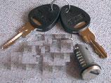 Zylinder 1x und 2 Schlüssel STS Zadi System Schließzylinder