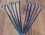 Zelthering 10 St.≙0,60€/St. Hering Stahl 4mm/ 25 cm Erdnagel Häring