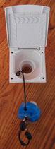 Einfüllstutzen Wasser in WEISS neue Form mit BLAUEM Deckel 2 Schlüssel
