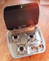 3 Flamm Kocher 30mbar HBG 3445 Dometic mit Glasabdeckung für Wohnmobil