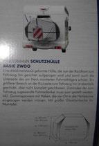 Fahrrad Schutzhülle 3dimensional für Heckträger bis 3 Räder Basic Zwoo