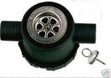 Siphon schwarz 39mm mit 2 Zugängen Ablauf Stöpsel mit Stift Rohrsystem