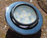 Leuchte 12 LED  Lampe Einbaustrahler schwenkbar chrom 12 V 2 W