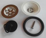 Ablaufgarnitur Spüle Spülbecken Waschbecken Stöpsel Ablauf GROß NEU