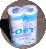 WC Papier 6 Rollen ≙1,03€/R. a 300 Blatt Toilettenpapier Fiamma Soft