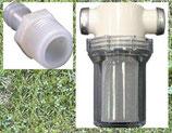 """Schmutzfilter mit 2 Anschlüssen, Filter Wasserfilter Shurflo 1/2"""" groß"""