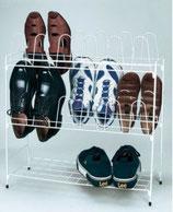 Schuhgestell für 12 Paar Schuhe Regal Gestell steckbar