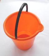 Eimer Kunststoff mit Ausguss orange Putzeimer Mülleimer 10 Liter
