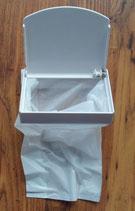 Abfallbehälter Mini weiß Müll Box Abfall Mülleimer