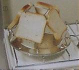 Camping - Toaster für den Gas Kocher für 4 Brotscheiben