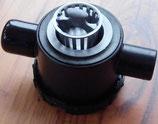 Siphon schwarz mit 2 Zugängen u. Restesieb Ablauf Rohrsystem Reich