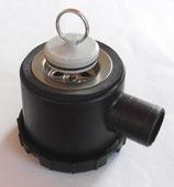 Siphon schwarz 33mm mit 1 Zugang Ablauf Stöpsel + Stift, Rohrsystem