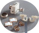 Push Lock + Stangen Schloss beidseitig bedienbar silber2/weiß komplett