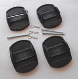 Stützplatten 4x ≙2,48€/St. Set Wohnwagen Kurbelstütz-Platten schwarz