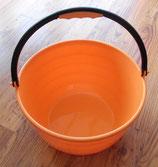 Eimer mit Henkel 15 L orange Mehrzweckeimer Spüleimer Geschirr