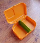 Vesper Brotbox aus 100% Zuckerrohr und Mineralien, plastikfrei, mandarin (orange)