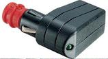 Stecker für Zigarettenanzünder und Norm LED Winkel 12-24 V 7,5 A