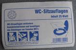 WC Sitz Auflagen 25 Stk. ≙ 0,16€/Stk. Papier Brillenschutz Toilette
