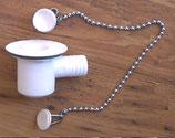 Geruchsverschluss winkel Ablauf Abwasser Siphon weiß 19 mm