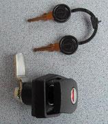Klappenschloss schwarz Schloss gekröpft Türschloss 2 ZADI-Schlüssel