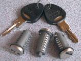 Zylinder 3x und 2 Schlüssel STS Zadi System Schließzylinder
