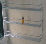 Regal Gewürzregal silber matt 3 fach für Gewürze Küche Bad WC