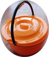 Eimer mit Henkel + Deckel 15 L orange Spüleimer Geschirr