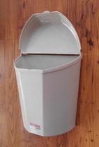 Abfallbehälter Wandmontage mittelgrau Müll Box Abfall Mülleimer
