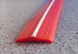 Gummiprofil 12mm 200m ≙0,45€/M. f. Schiene Leistenfüller rot/weiß