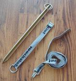 Sturmband Abspannband 2,5 m Hering 40 cm für Vorzelt Spannband